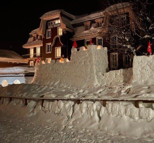 Schneeburg. In der Berner Sportwoche entstanden